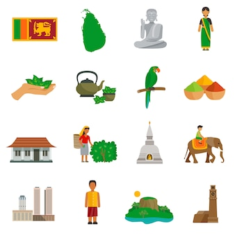 Sri lanka icons