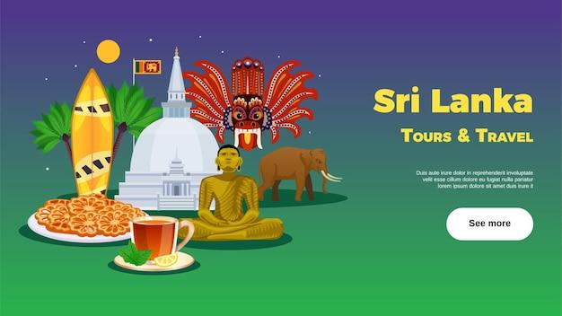Sri lanka reisebüro banner vorlage