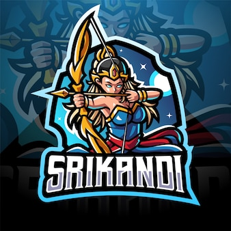 Srikandi esport maskottchen logo design