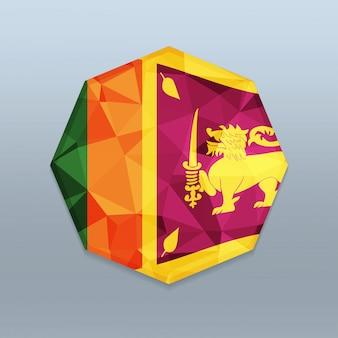 Srilanka-flagge mit octagone-designvektor