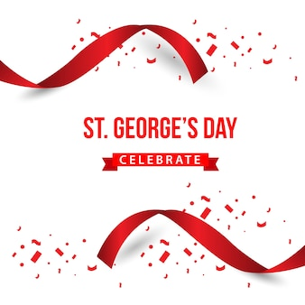 St. george's day feiern vektor-template-design