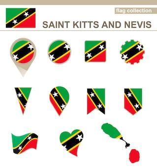 St. kitts und nevis flag collection, 12 versionen