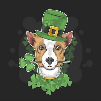 St. Patrick's Day niedlicher Hund