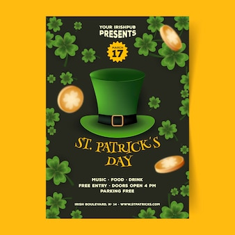 st. patrick day flyer vorlage