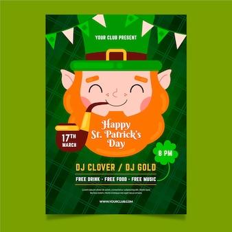 St. patrick day flyer vorlage