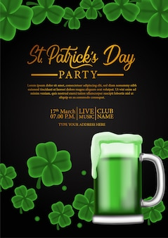 St. patrick day party poster vorlage