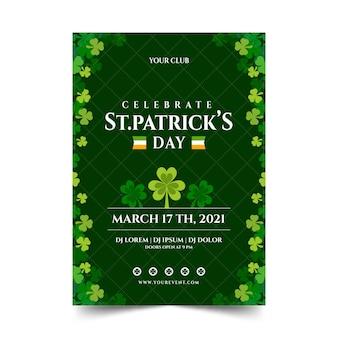 St patrick day poster vorlage