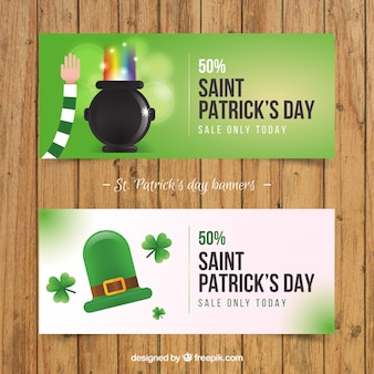 St. patrick day sales banner-pack