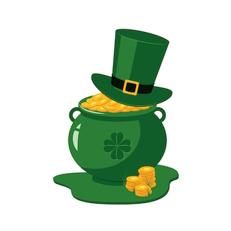 St patrick day traditionelle symbole