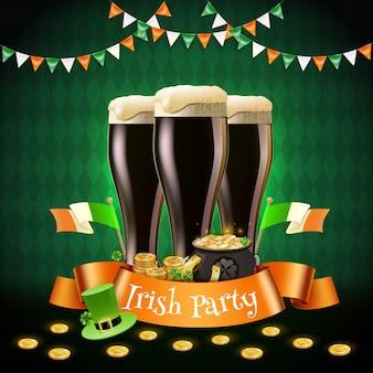 St patrick irische partyillustration
