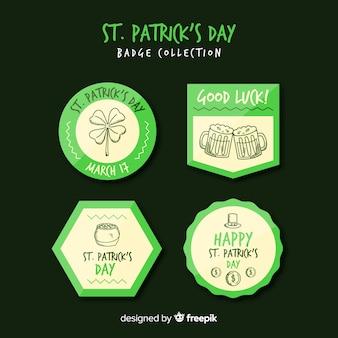 St patrick's abzeichen sammlung