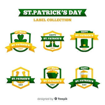 St. patrick's day abzeichen sammlung