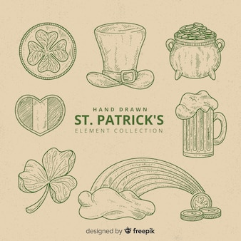 St. patrick's day element sammlung