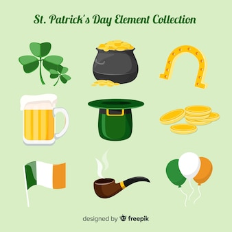 St. patrick's day element sammlung