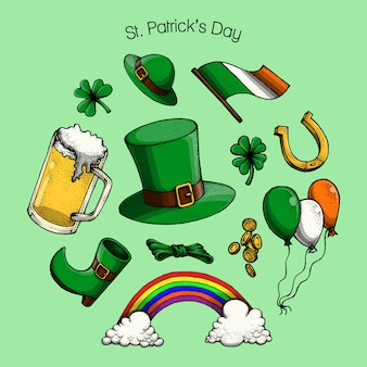 St. patrick's day elemente, illustration