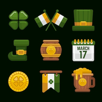 St. patrick's day elemente pack