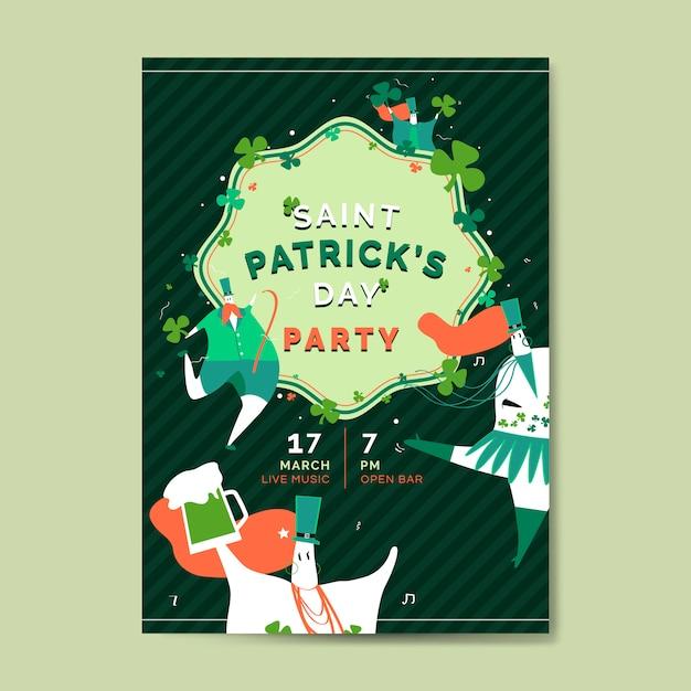 St. patrick's day feier gesetzten planvektor