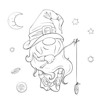 St. patrick's day feiertagsset, niedlicher karikaturgnom, kobold. illustration.