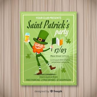 St. patrick's day flyer partei vorlage