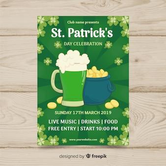 St. patrick's day flyer vorlage