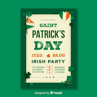 St. patrick's day flyer vorlage