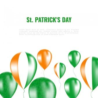St. patrick's day hintergrund mit heliumballons