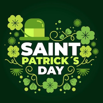 St. patrick's day illustration mit hut