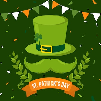 St. patrick's day in flache bauform