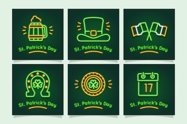 St. patrick's day instagram beitragssammlung