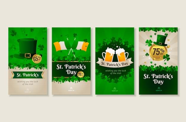St. patrick's day instagram geschichten sammlung