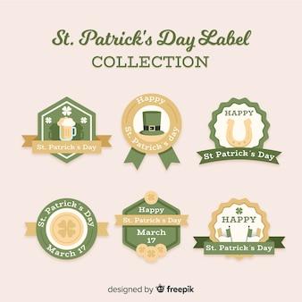 St patrick's day-labelsammlung