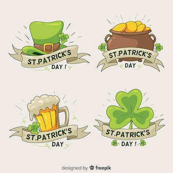 St patrick's day-labelsammlung