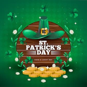 St. patrick's day mit goldmünzen
