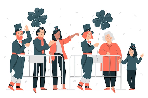 St. patrick's day parade konzept illustration