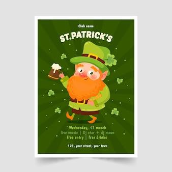 St. patrick's day poster vorlage hand gezeichnet