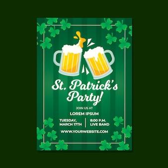 St. patrick's day poster vorlage