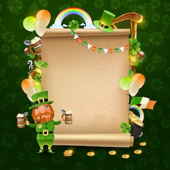 St. patrick's day schriftrolle