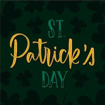 St. patrick's day schriftzug mit klee