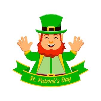St. patrick's day zeichentrickfigur leprechaun