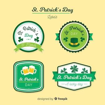 St patrick's label-sammlung