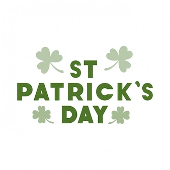 St patrick `s tag label isoliert symbol