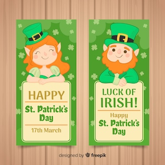 St patrick tagesfahnen