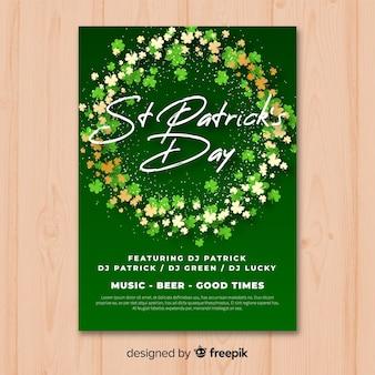 St patrick tagesparteiplakat