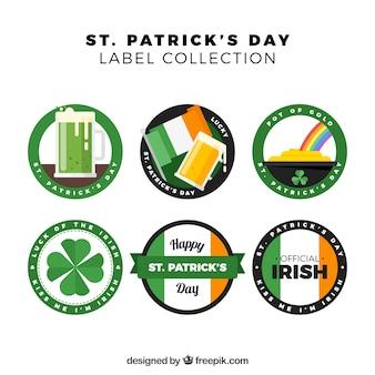 St. patricks day abzeichen / label sammlung