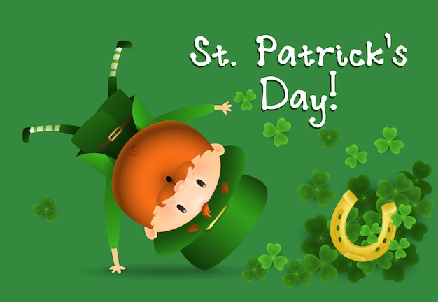 St. patricks day einladungsdesign