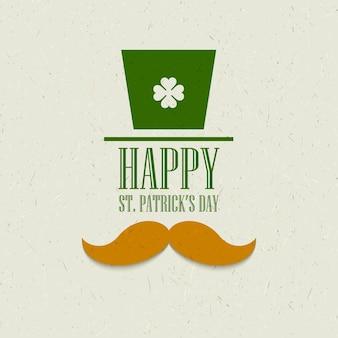 St. patricks day flat card design. illustration