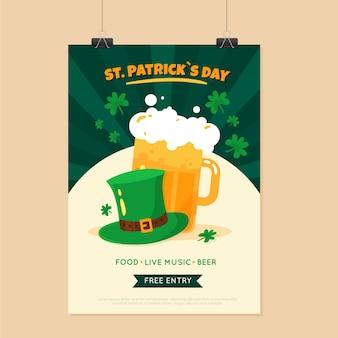 St. patricks day flyer vorlage