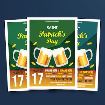St. patricks day flyer vorlage
