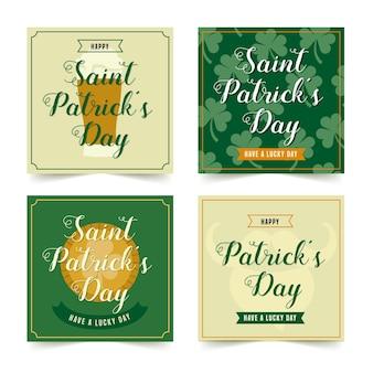 St. patricks day instagram beitragssammlung