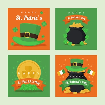 St. patricks'day instagram post sammlung